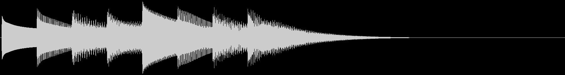 キーンコーンカーンコーン(学校チャイム…の未再生の波形