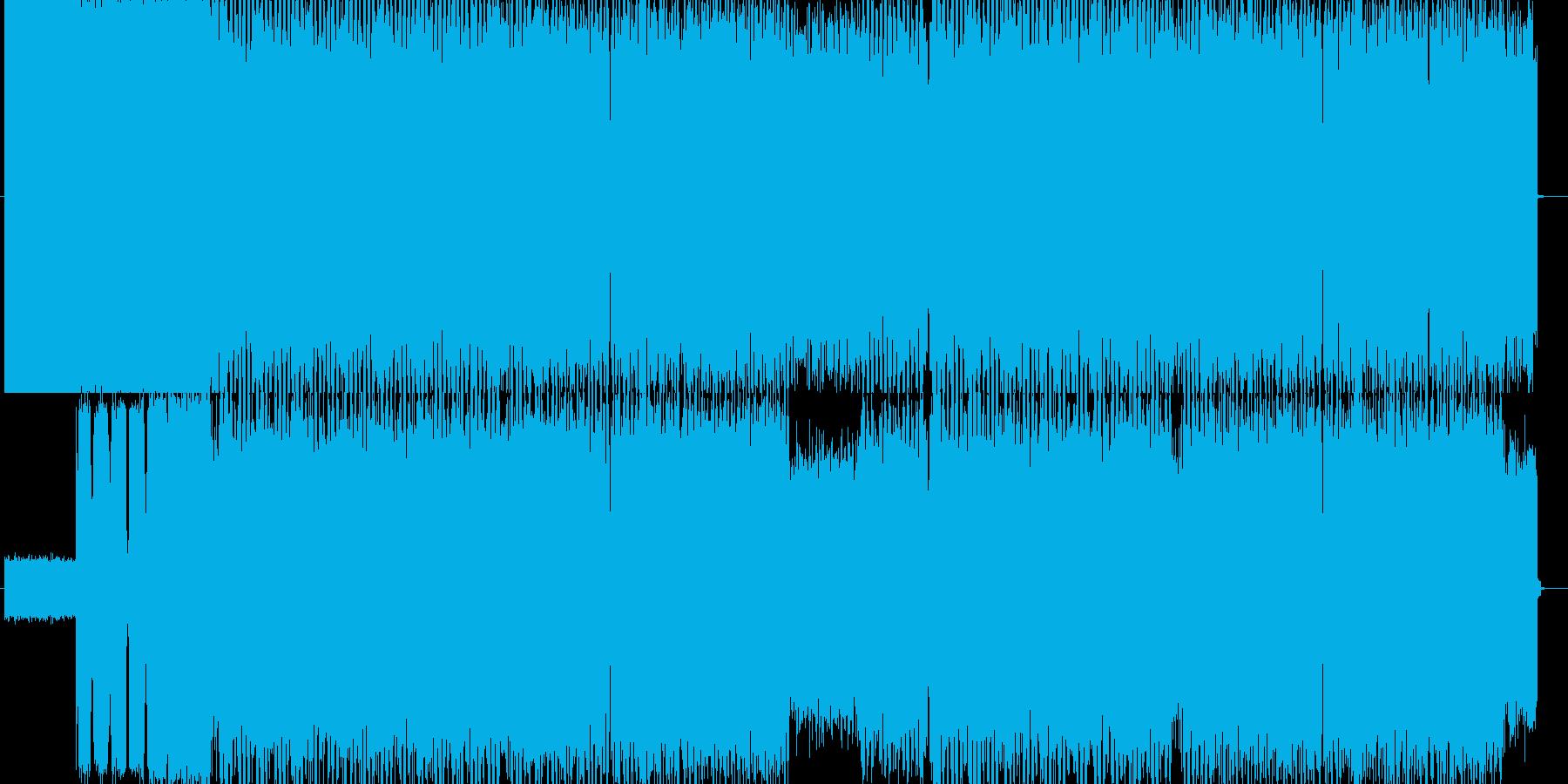 攻撃的な戦闘シーンのデジタルテクノロックの再生済みの波形