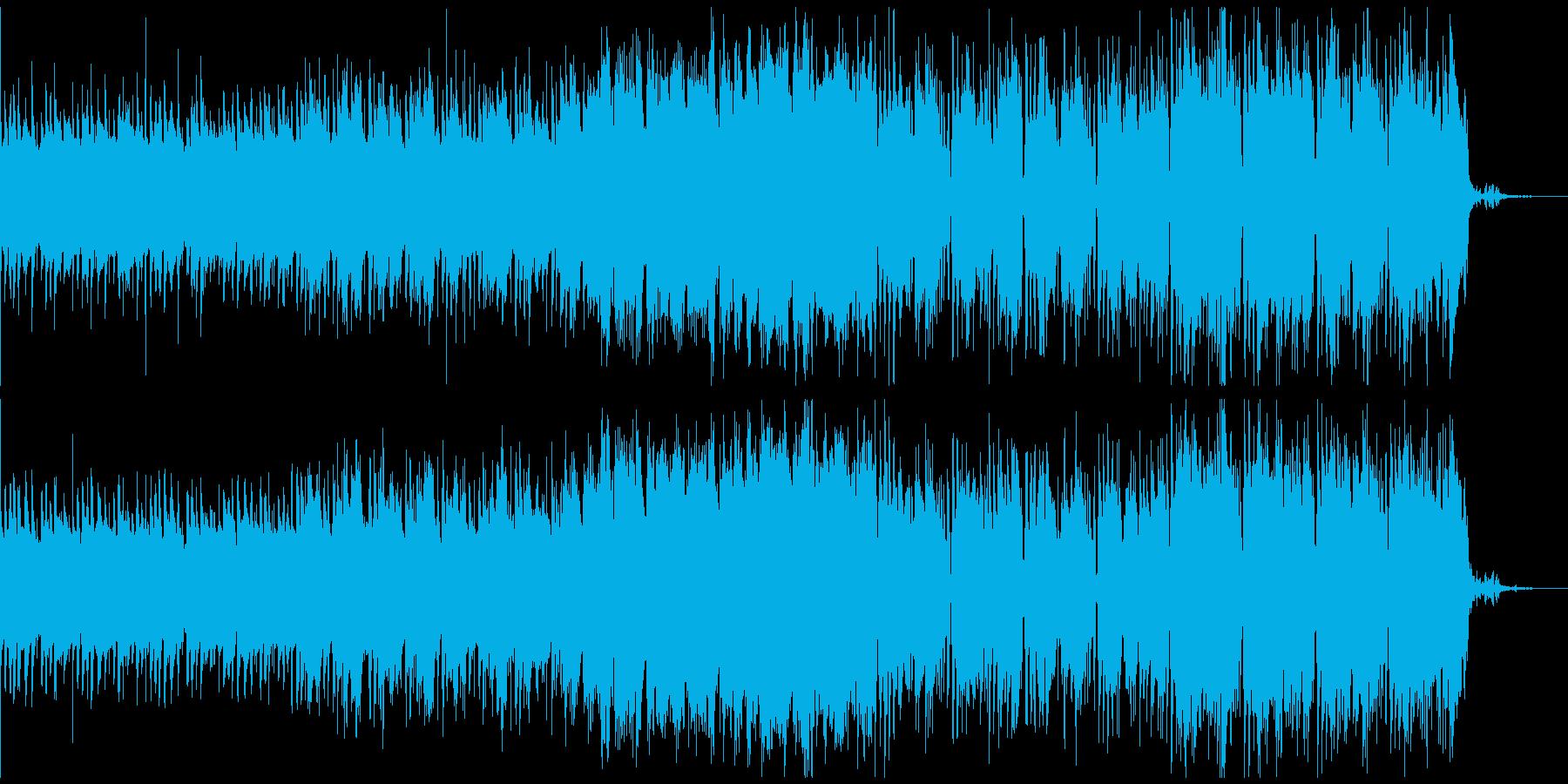 スタイリッシュ、近未来系BGMの再生済みの波形