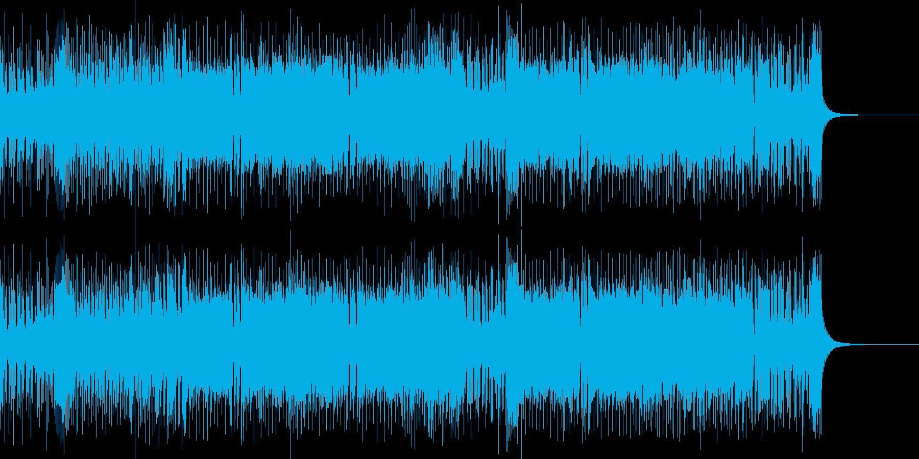 ノリのいいロック調の曲の再生済みの波形