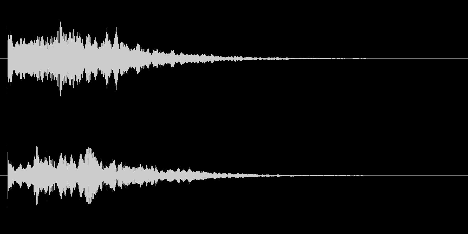 場面転換の音の未再生の波形