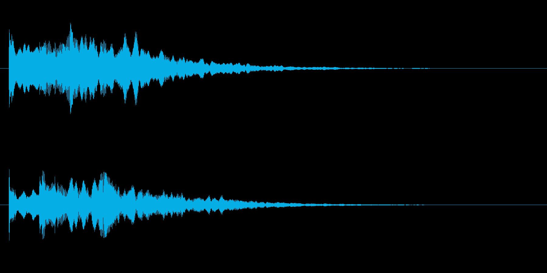 場面転換の音の再生済みの波形