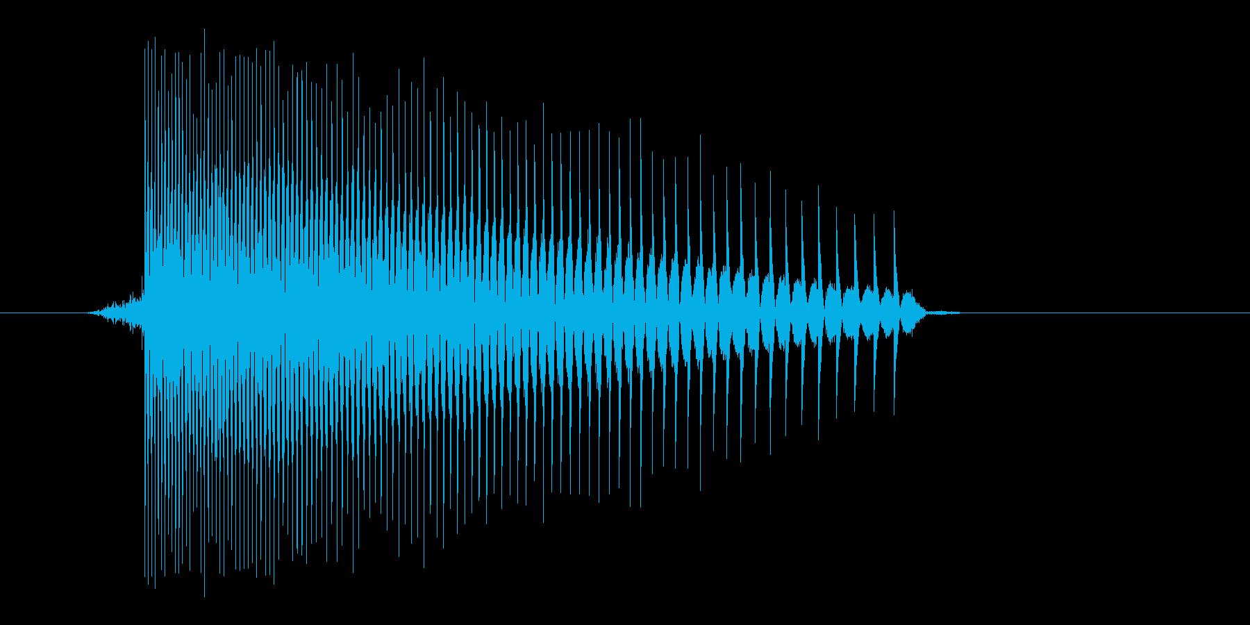 ゲーム(ファミコン風)レーザー音_024の再生済みの波形