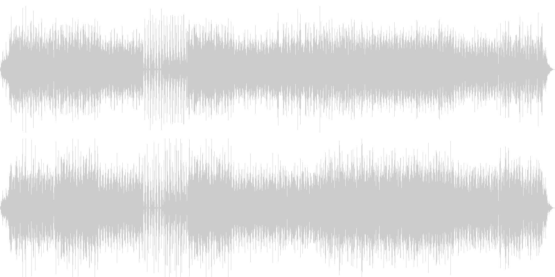 パリジェンヌの日常を表現したBGMの未再生の波形
