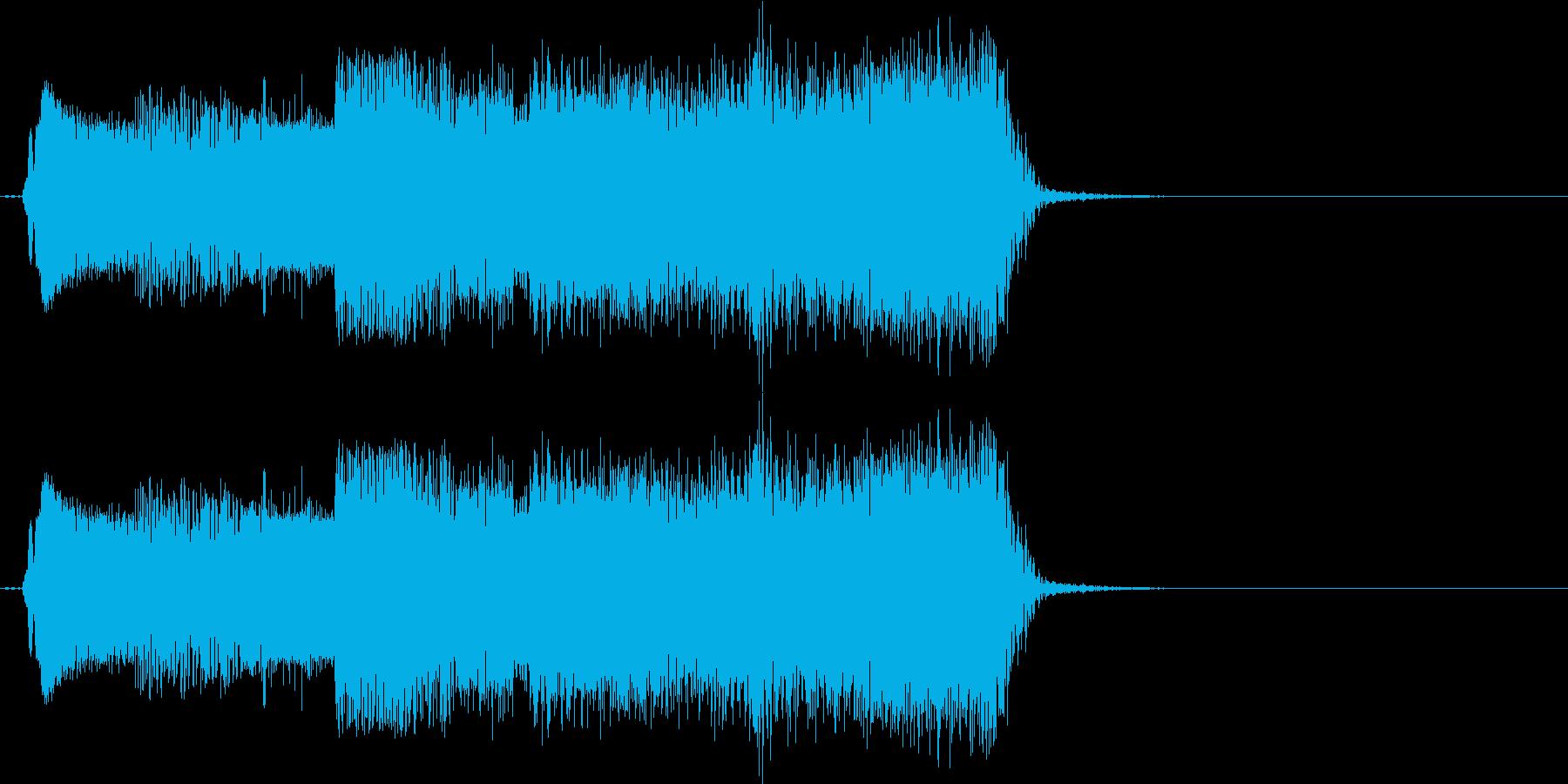 【エレキ ギター】ファンキーなワウの再生済みの波形