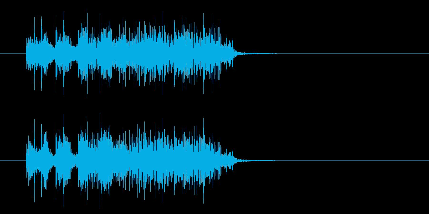 ジングル(キュー・アタック系)の再生済みの波形