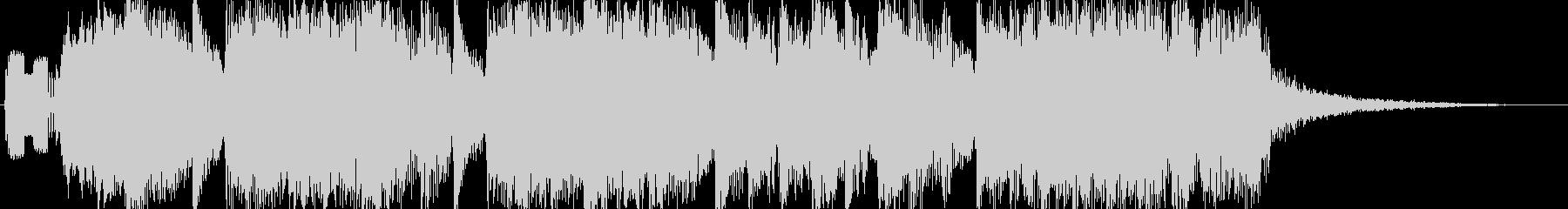 軽快で華やかなジングル 10秒verの未再生の波形
