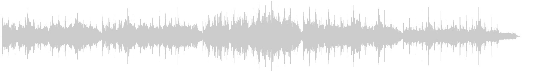 ピアノとストリングスの優しい曲調のBGMの未再生の波形