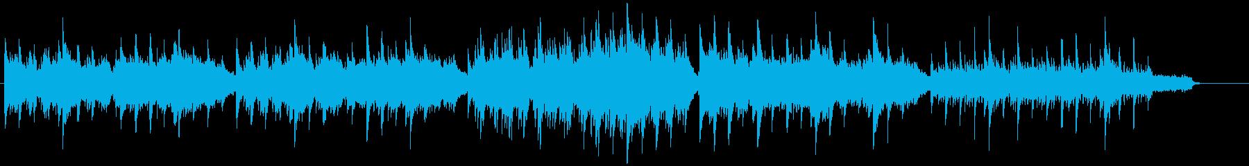 ピアノとストリングスの優しい曲調のBGMの再生済みの波形