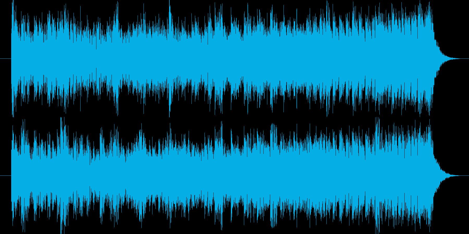 疾走感のあるエキサイティングBGMの再生済みの波形