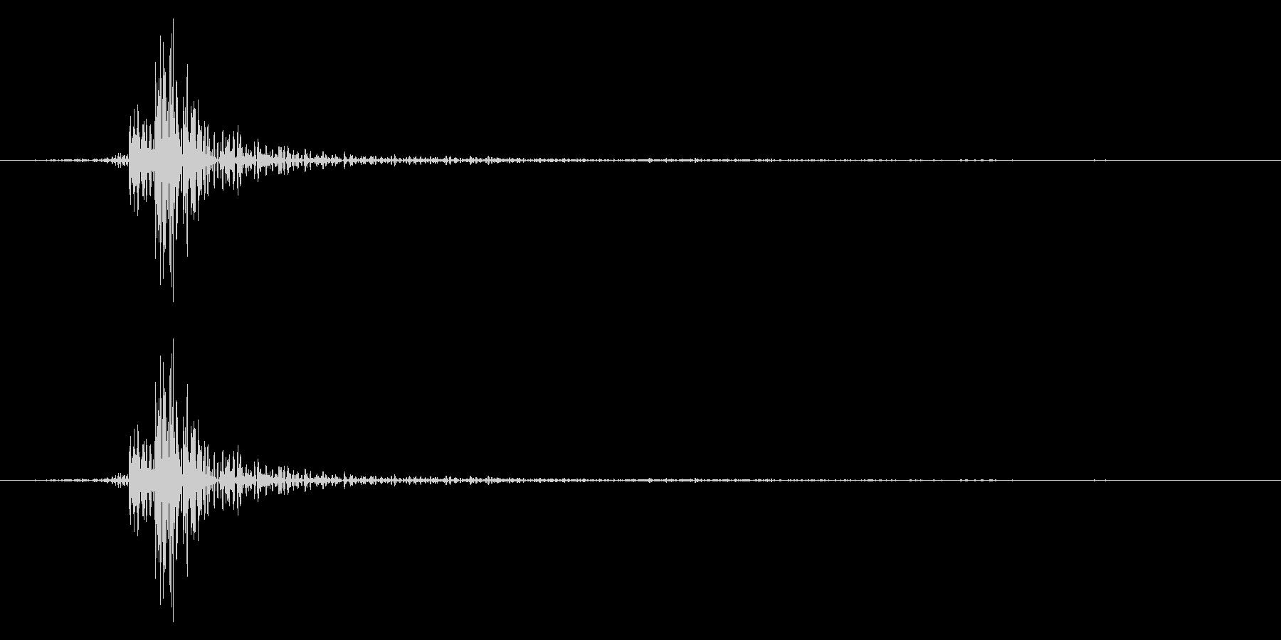 カーソル移動音5の未再生の波形