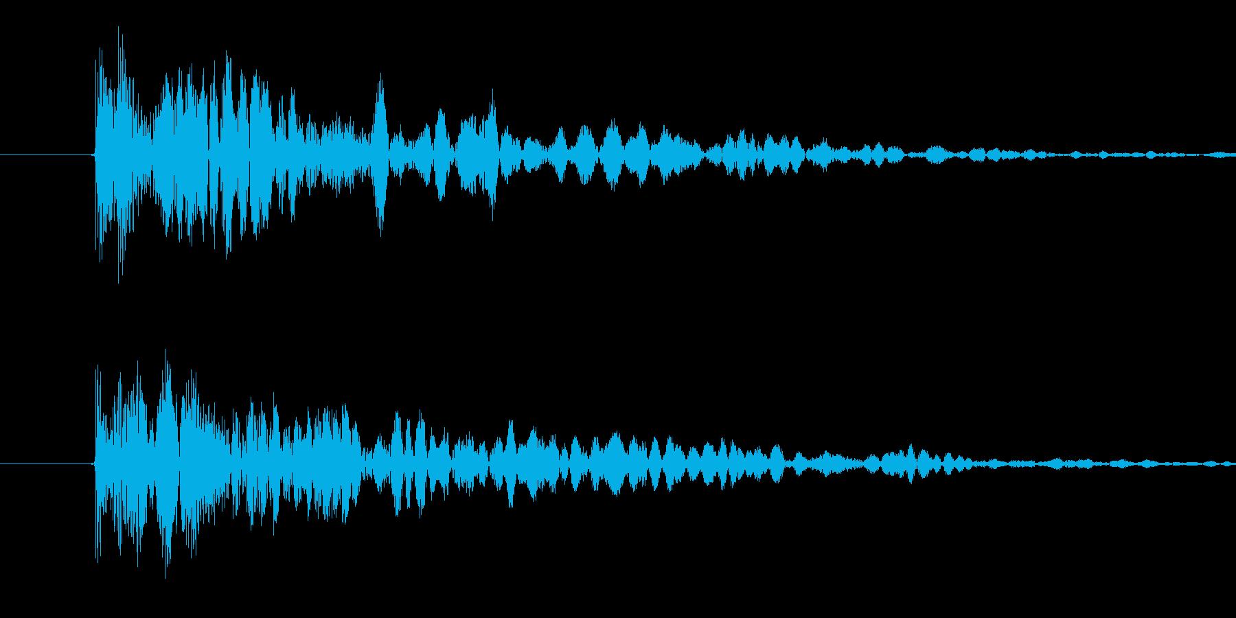 コミカル2(ポヨヨヨヨーン)の再生済みの波形
