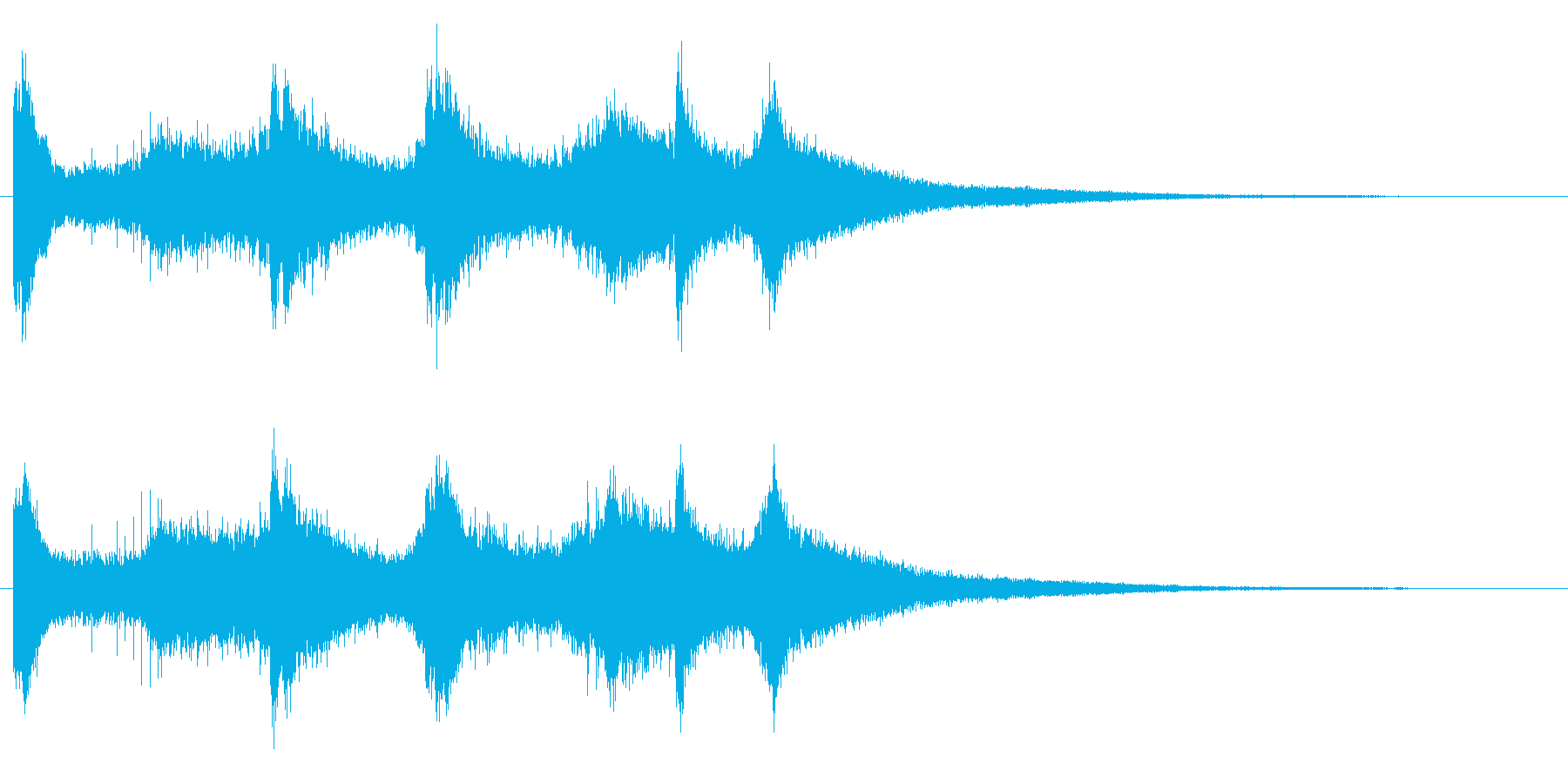 カンカンカン・・・韓国ドラの激しい連打音の再生済みの波形