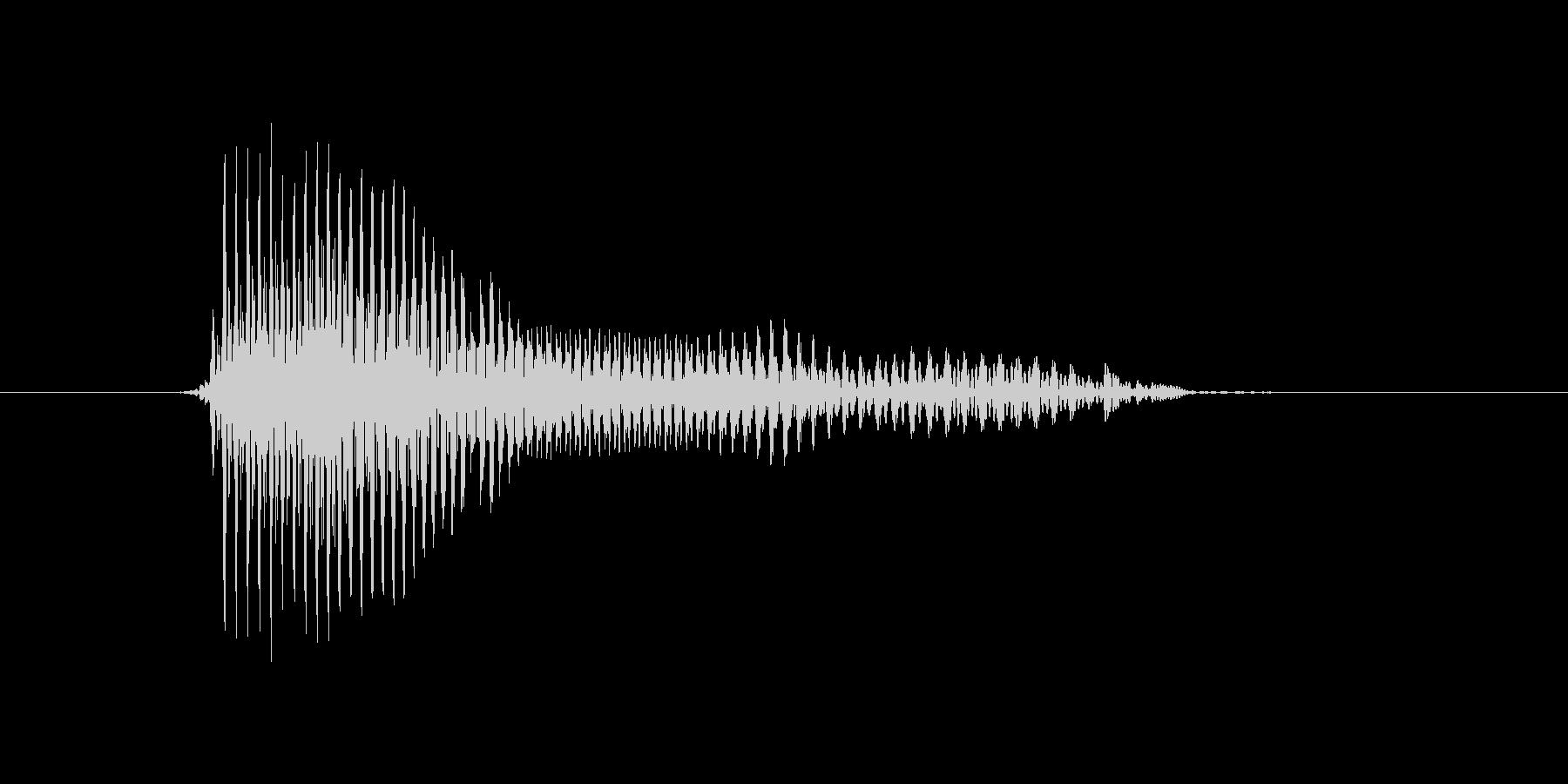 青の未再生の波形