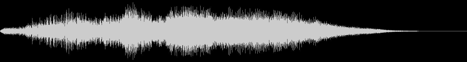 ハープのグリッサンドとボイス系シンセの未再生の波形