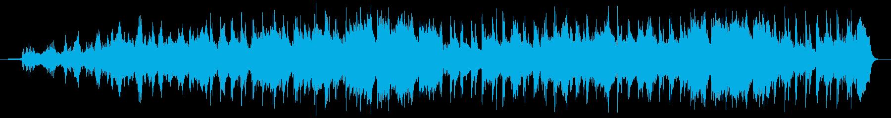 優しいリラックス雰囲気のストリングス曲の再生済みの波形