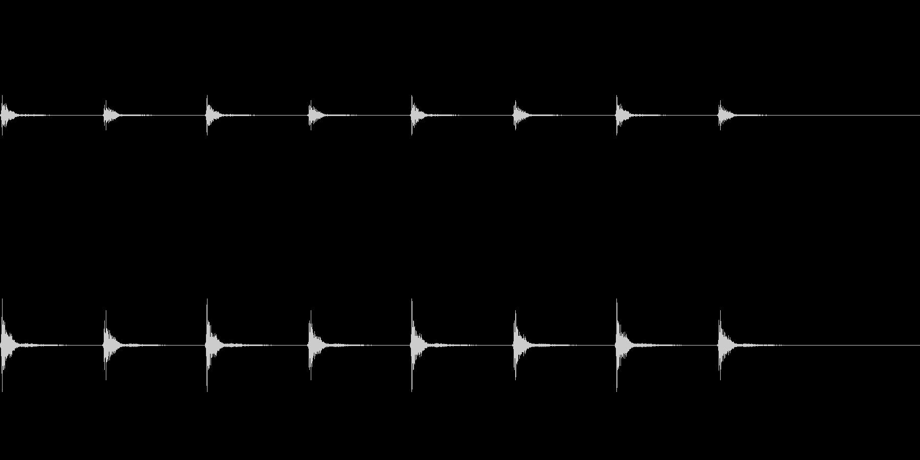 柱時計の秒針_その2の未再生の波形