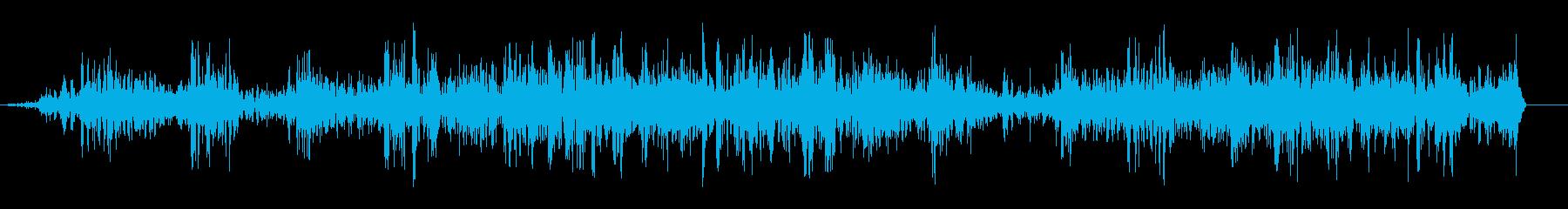 ブワブワ(泡が涌き上る音)の再生済みの波形