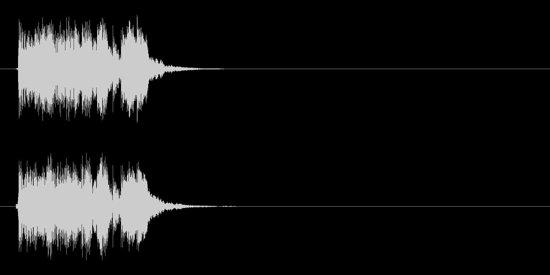 音が上がっていくようなシンセジングルの未再生の波形