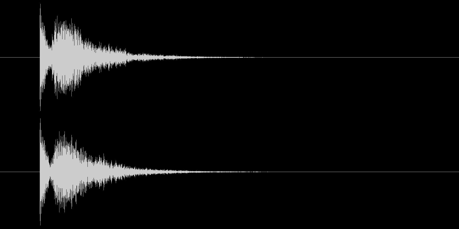 金属系の物音(ホラー系)の未再生の波形