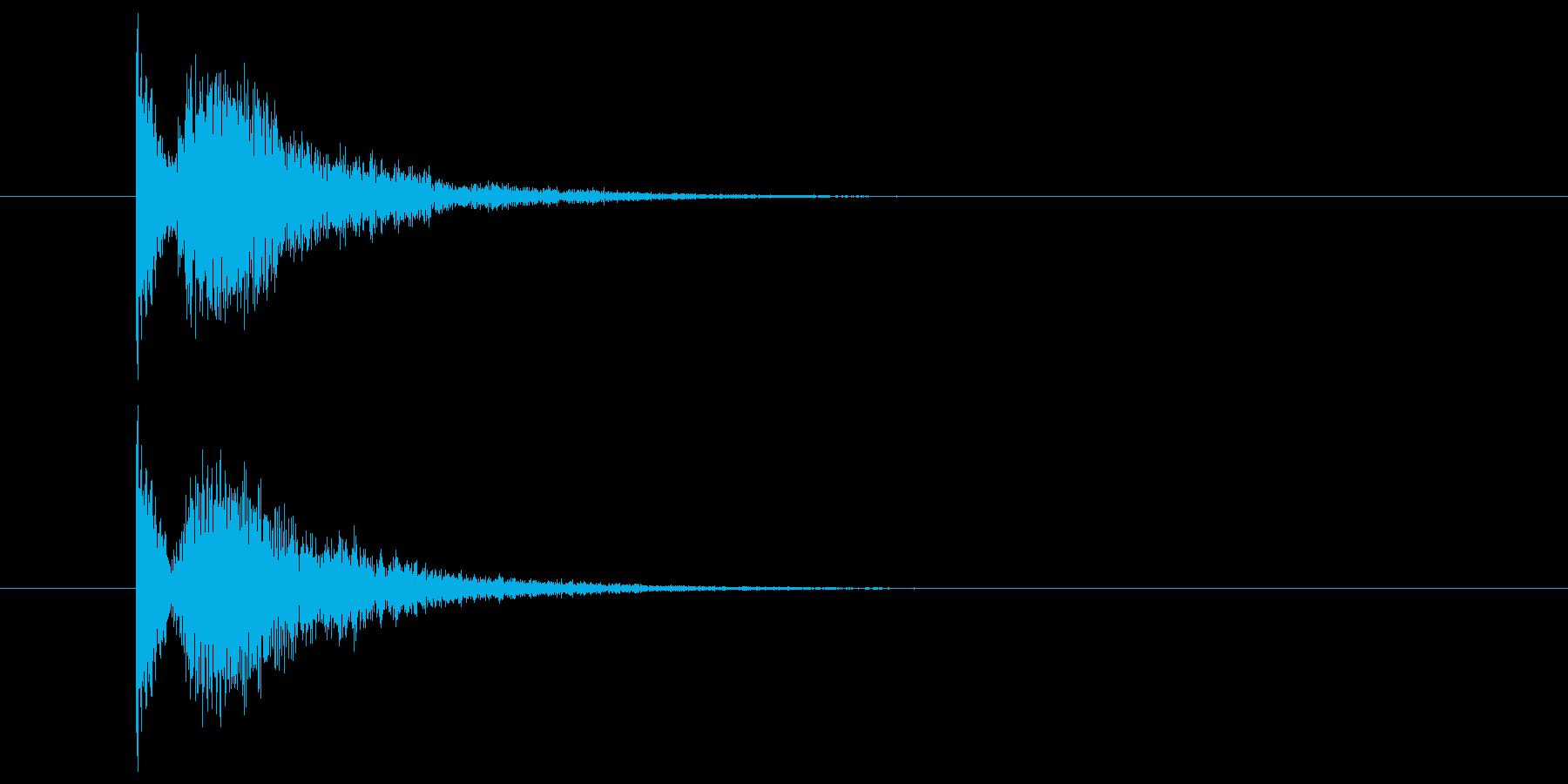 金属系の物音(ホラー系)の再生済みの波形