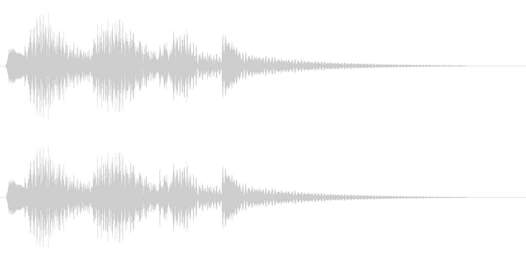ピヨンピヨン(楽器系)の未再生の波形