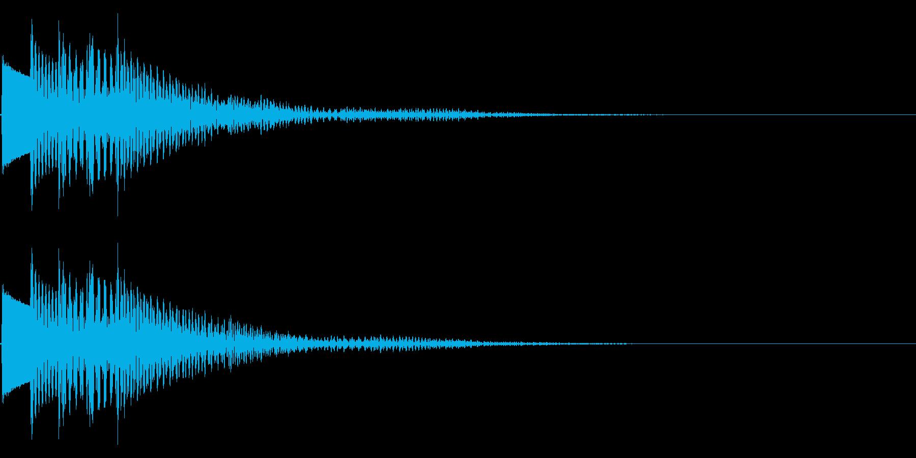 木琴(マリンバ、カリンバ)のような音で…の再生済みの波形