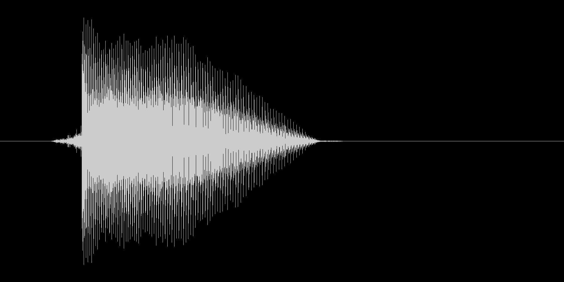 ゲーム(ファミコン風)レーザー音_012の未再生の波形