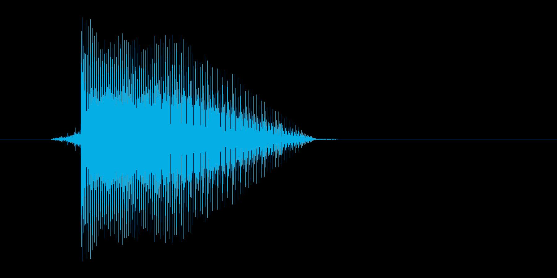 ゲーム(ファミコン風)レーザー音_012の再生済みの波形