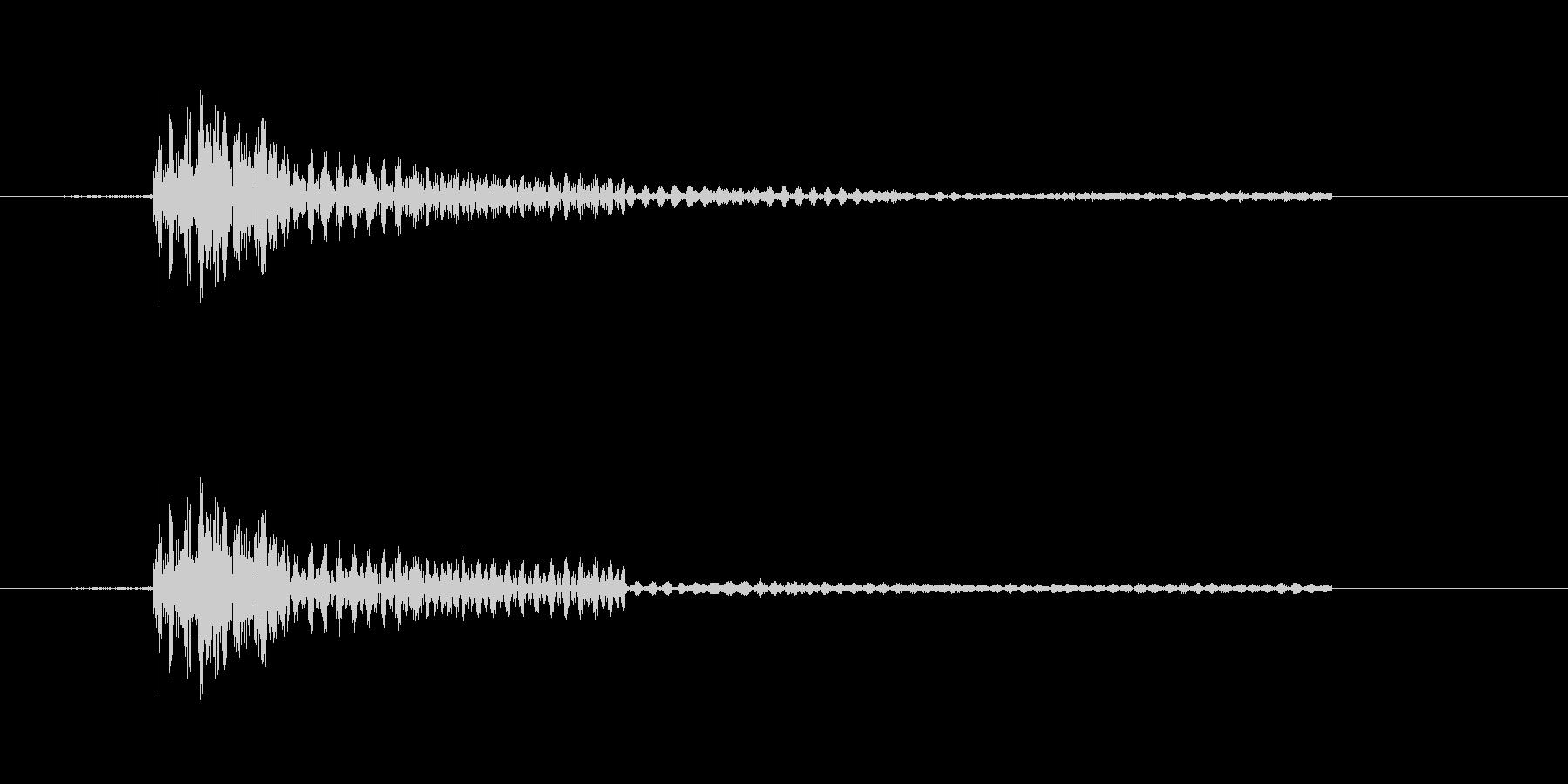 カチッなる軽快な効果音の未再生の波形