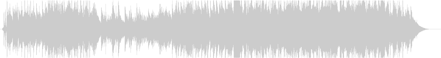ピアノ主体のエンディング映像向きバラードの未再生の波形