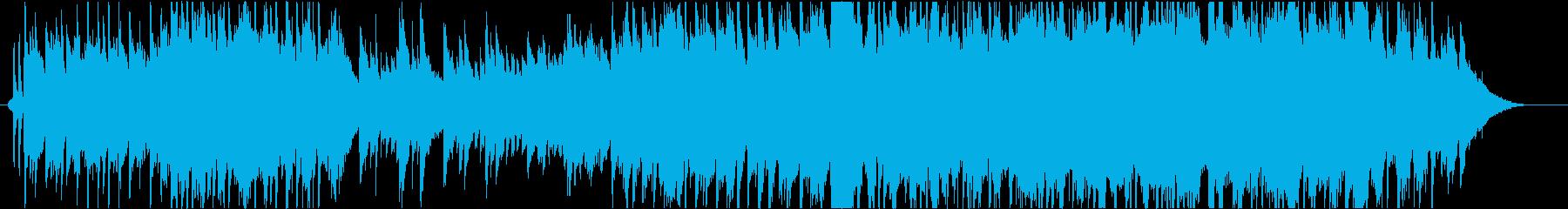 ピアノ主体のエンディング映像向きバラードの再生済みの波形