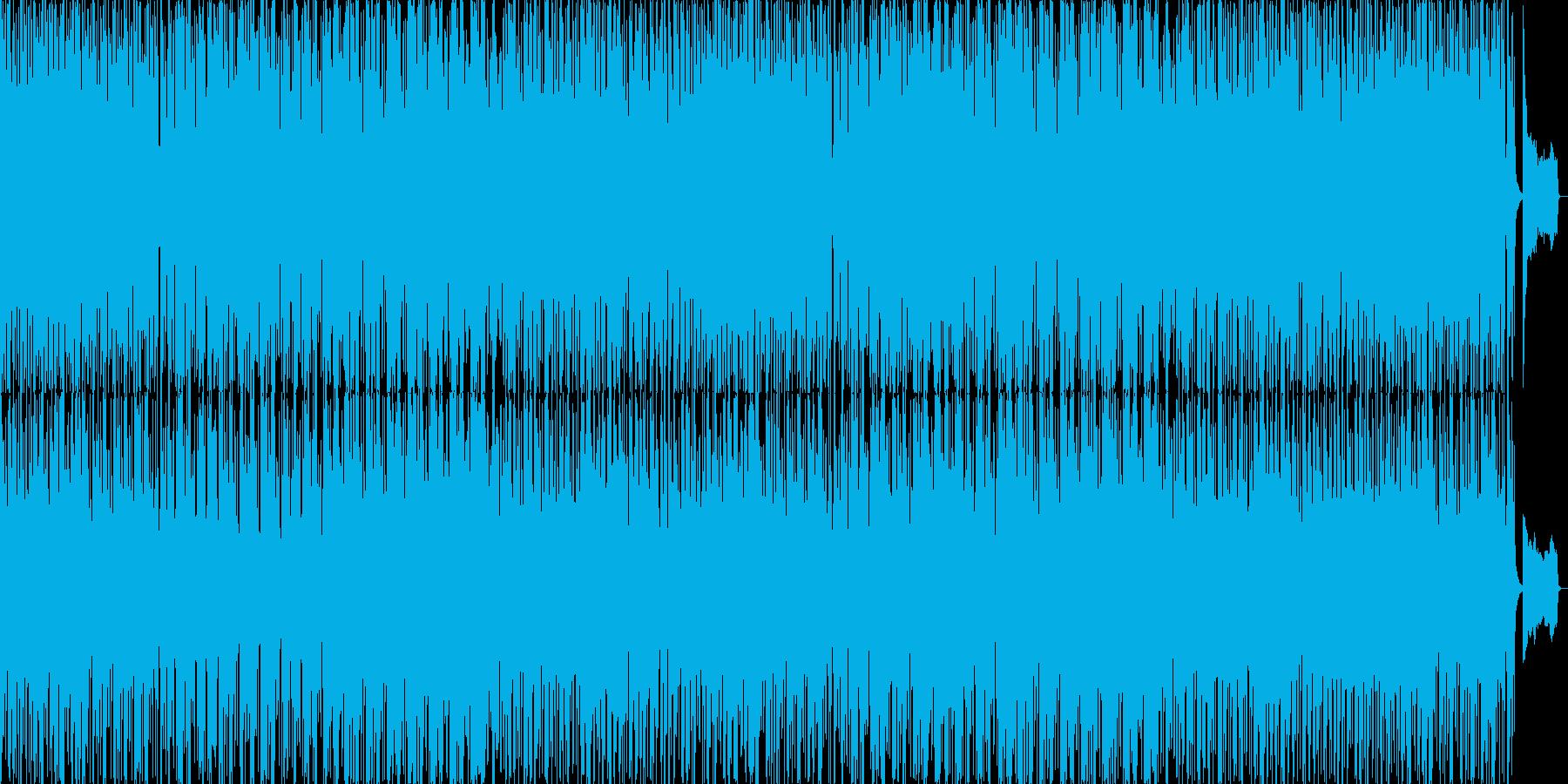 パーカッションが目立つで可愛いポップの再生済みの波形