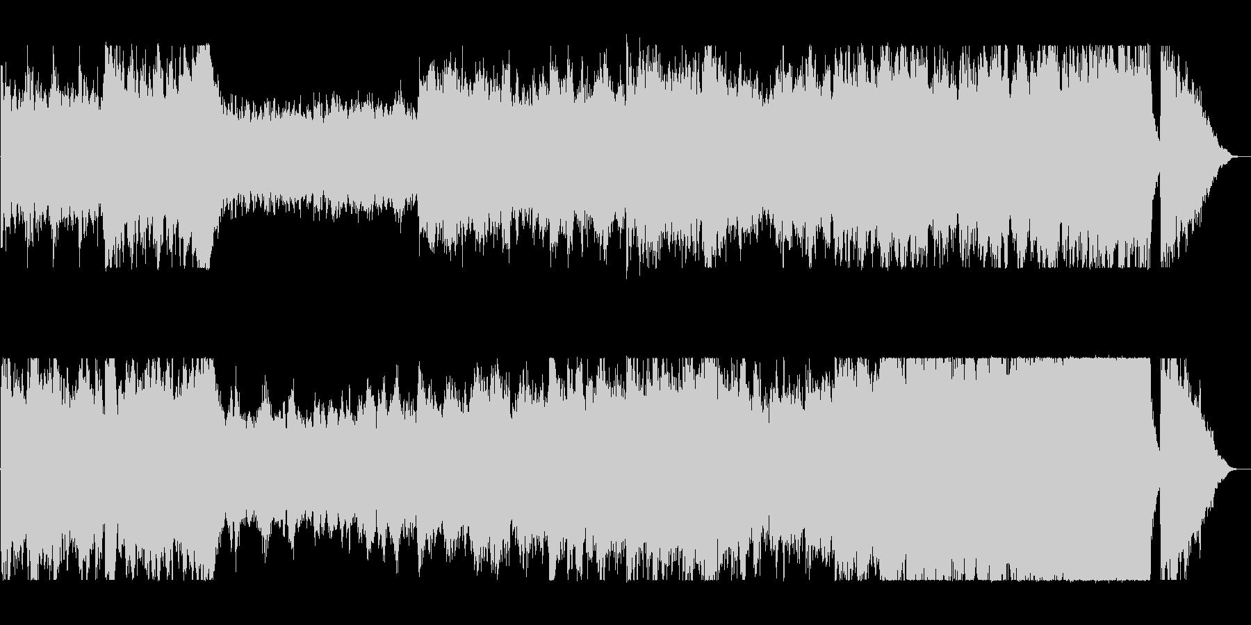 迫力と盛大な弦打楽器シンセサウンドの未再生の波形