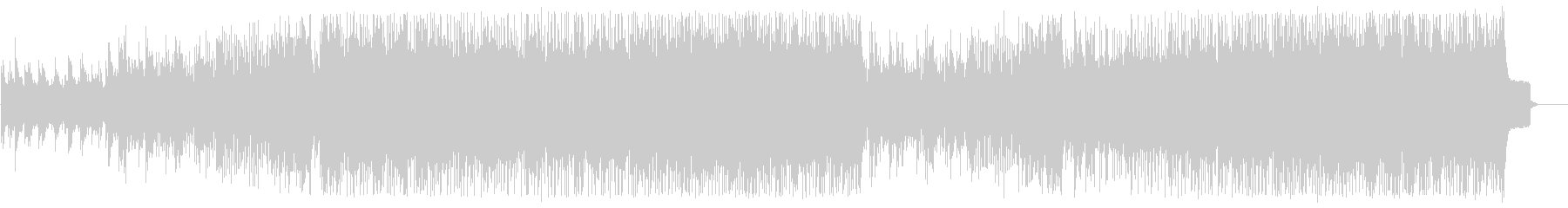 明るいビートの綺麗なテクノポップの曲の未再生の波形