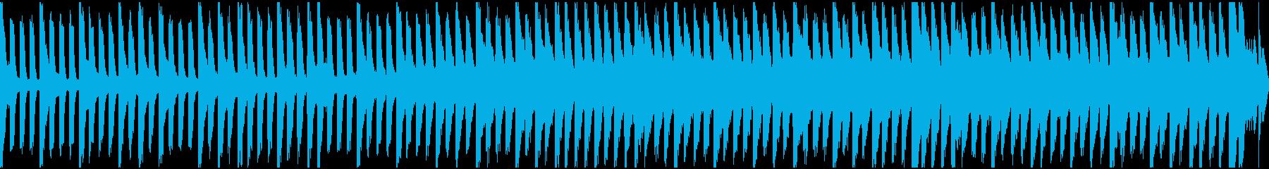 ピアノのゆったりした抑圧感を醸すループの再生済みの波形