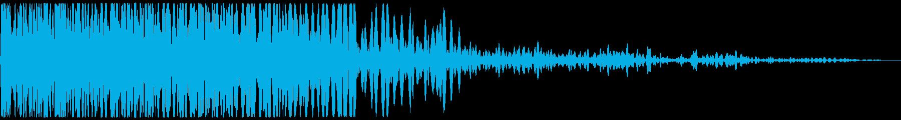 ドカーン(爆発音と煙)の再生済みの波形