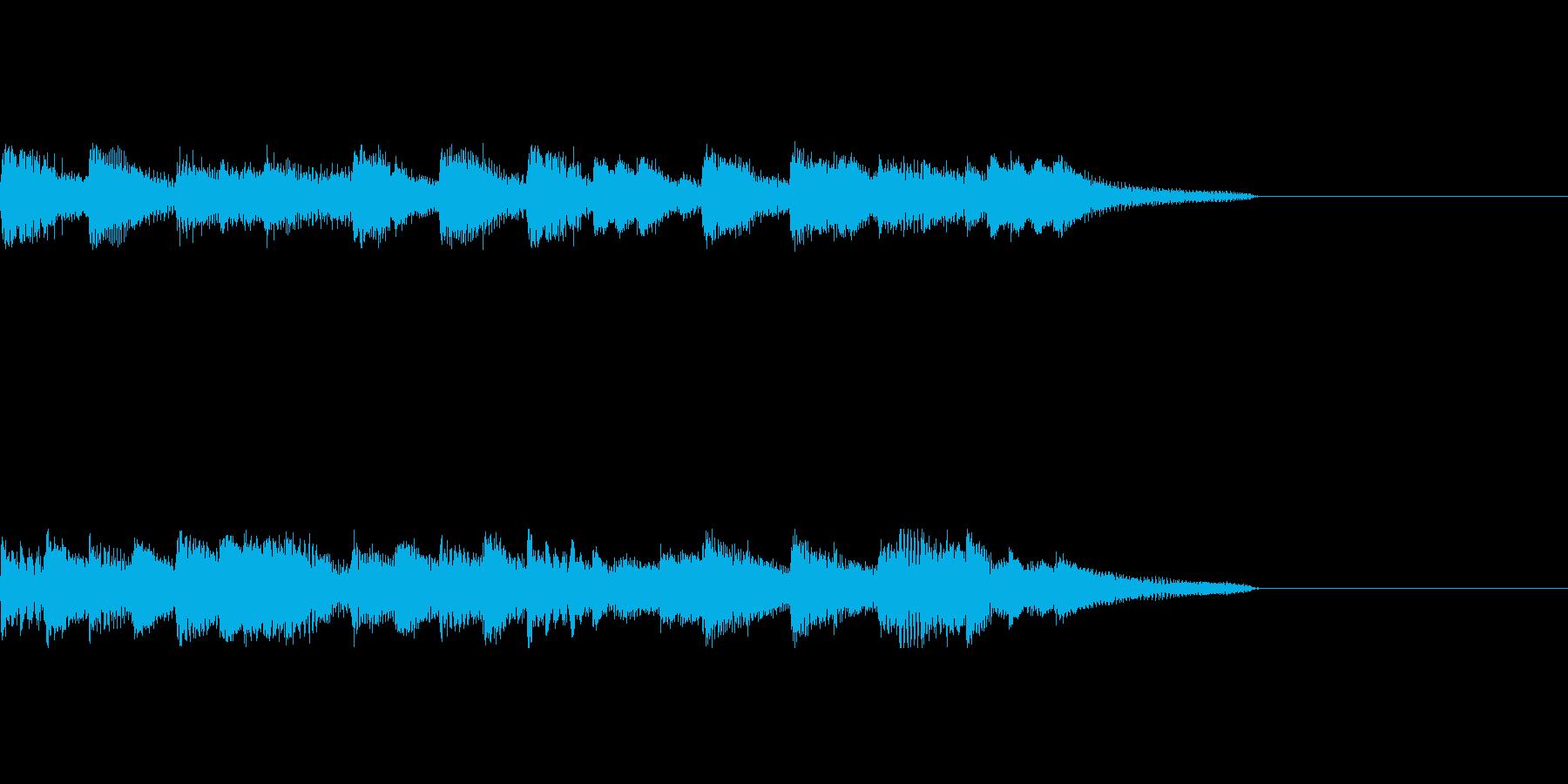 ピアノジングル3、明るいラジオ風の再生済みの波形