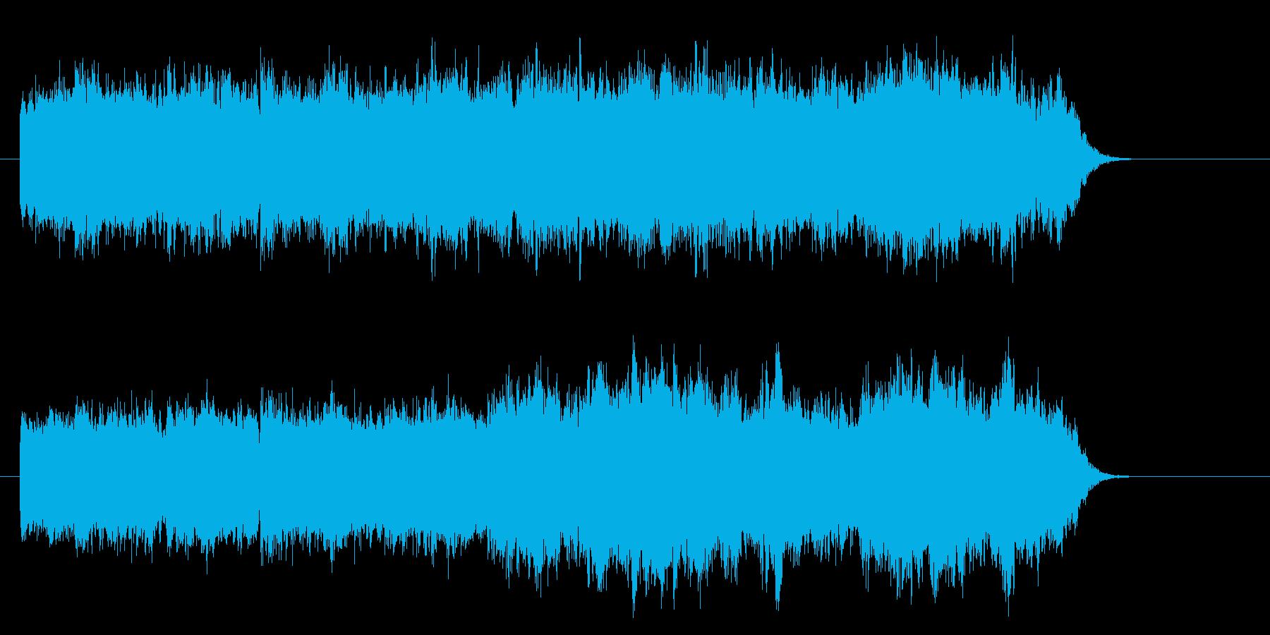 生命観のあるサイエンス調環境音楽の再生済みの波形