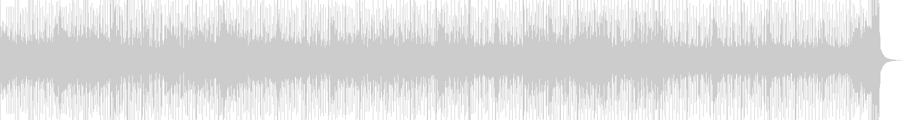 三味線とドラムのスピード感あるセッションの未再生の波形