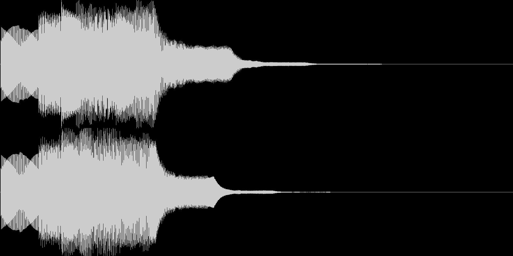 汎用決定ボタン - 1の未再生の波形