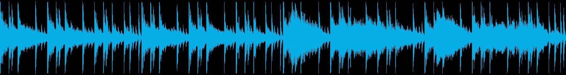 【ループ再生】少し緊張感のあるBGMの再生済みの波形