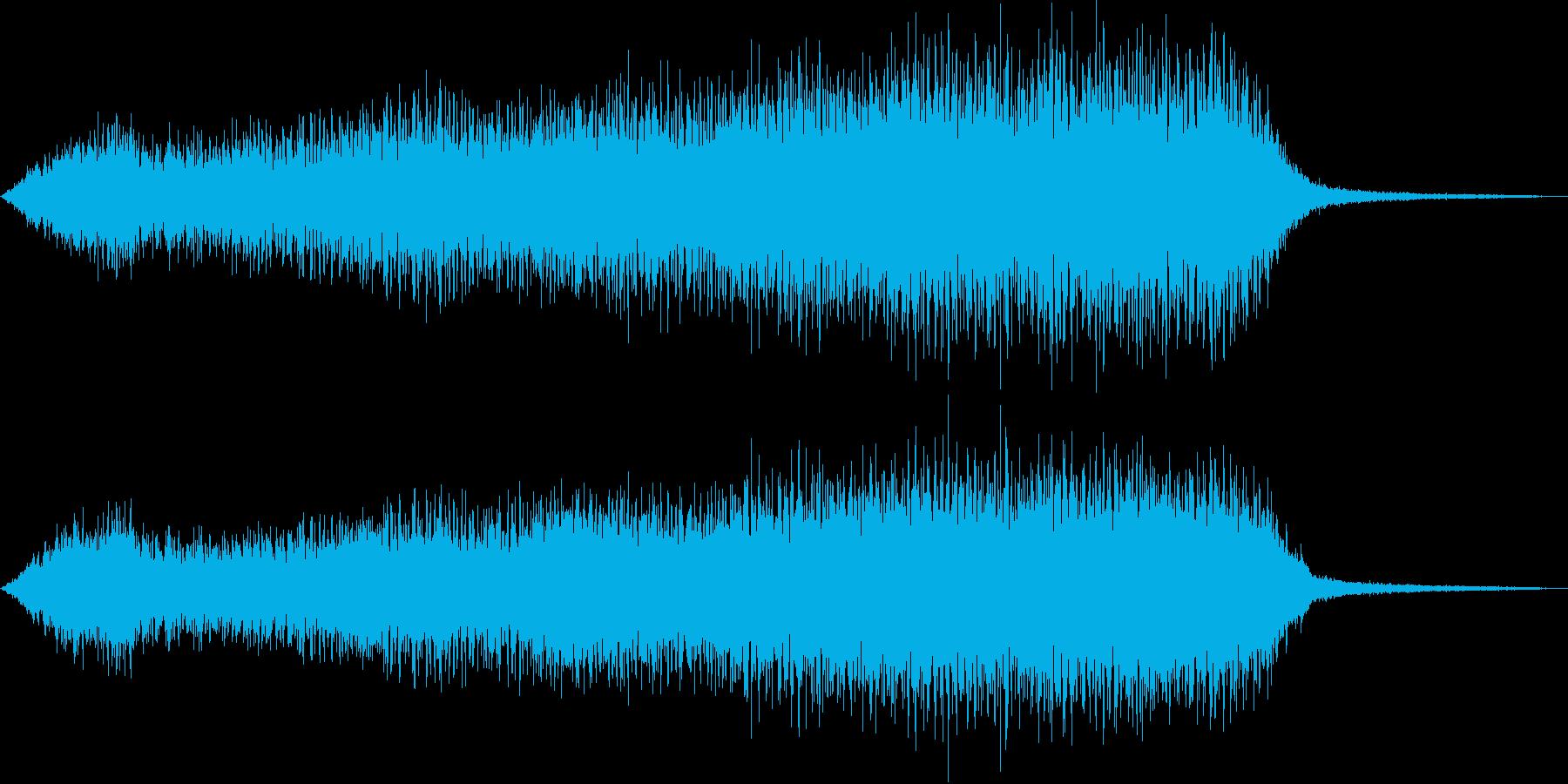 蒸気機関車の汽笛2の再生済みの波形