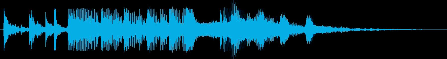 クイズの終わり 犬の鳴き声いりの再生済みの波形
