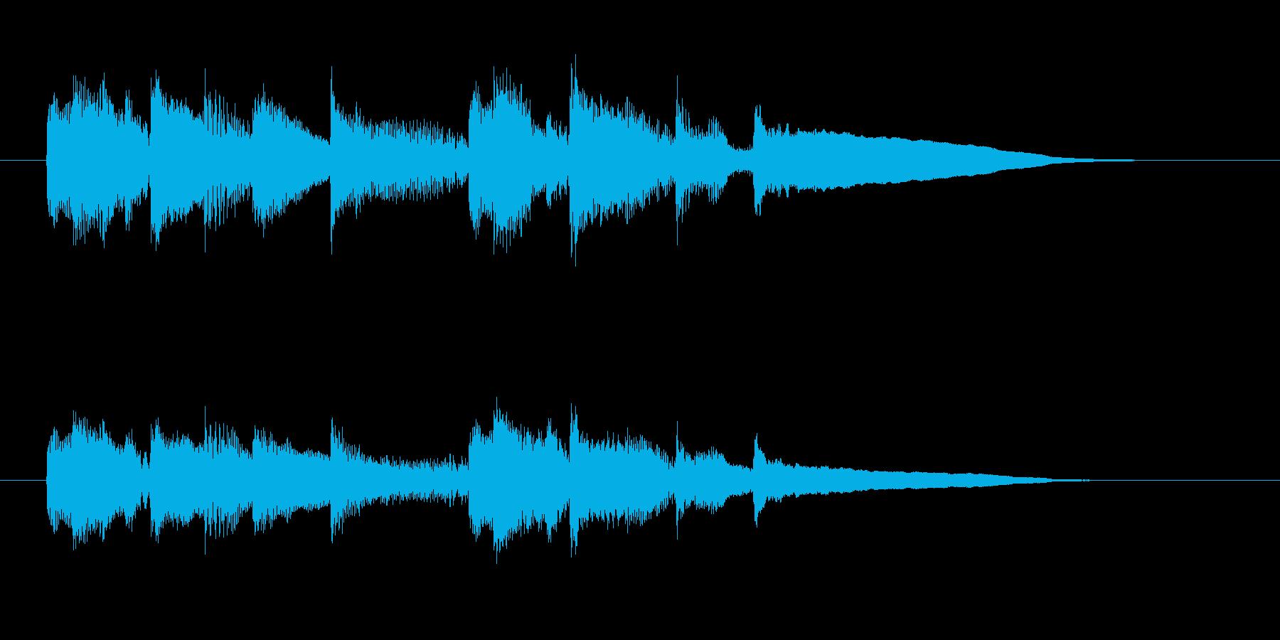 しっとりと緩やかなアコギジングルの再生済みの波形