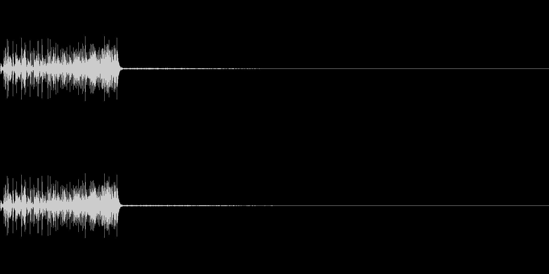 ボワッ、ポワッ(カーソル、選択、操作)の未再生の波形