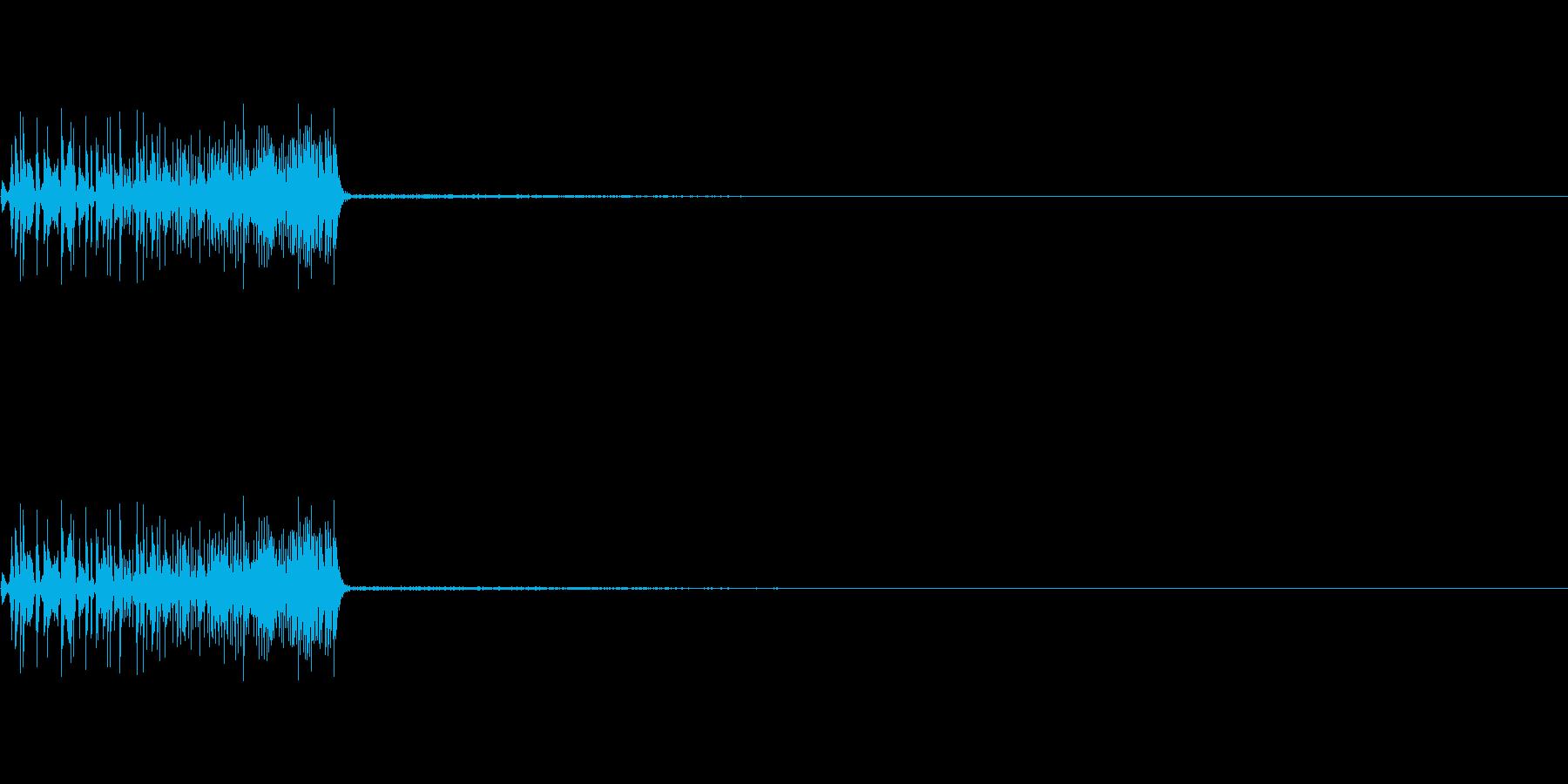 ボワッ、ポワッ(カーソル、選択、操作)の再生済みの波形