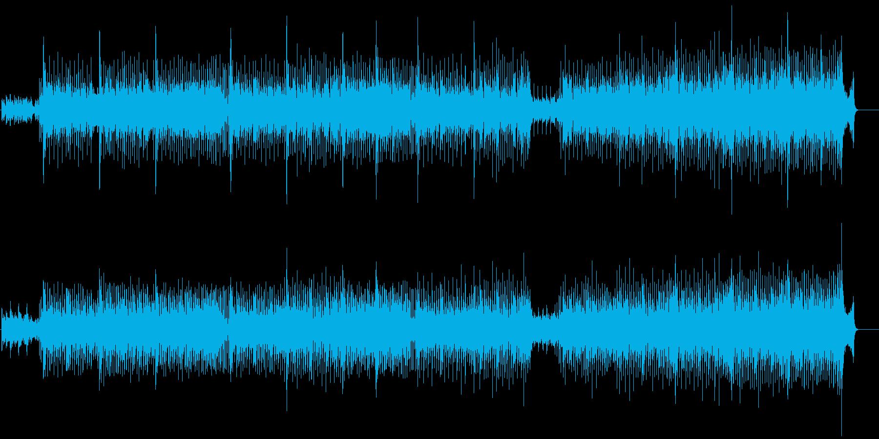 コマーシャルなアニメ・ソング風の再生済みの波形