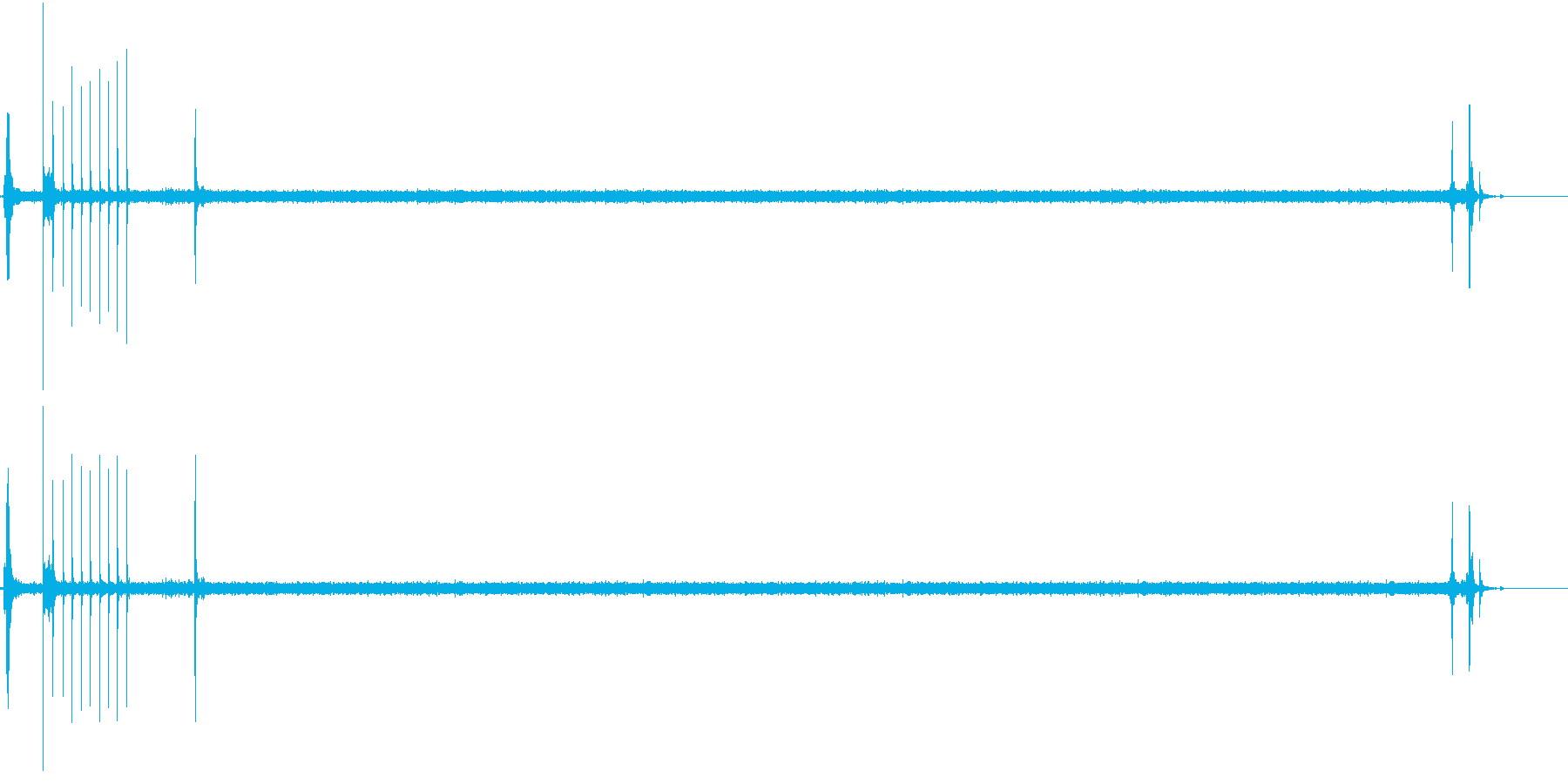 ガチャ!シュー☆ガスコンロの音 ロング2の再生済みの波形