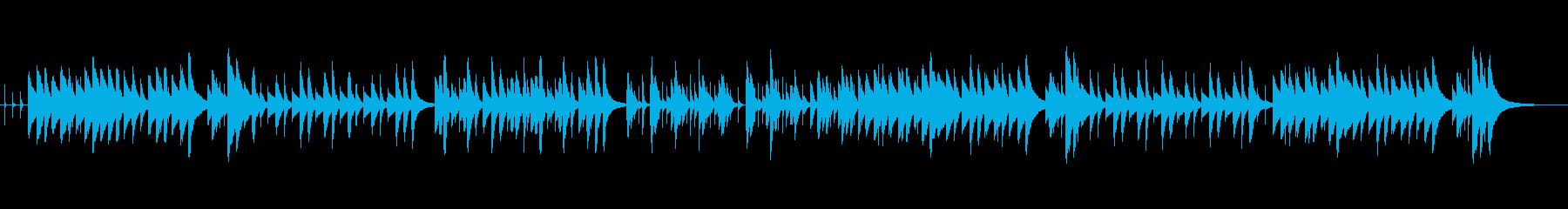 しっとりと優しいオルゴール風メロディーの再生済みの波形
